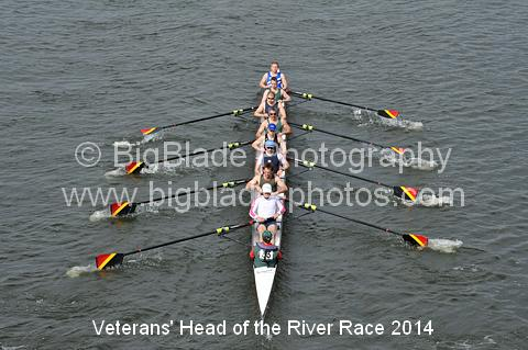 Veterans' Head of the River Race 2014  33 Quintin BC Auriol Kensington Putney Town RC Thames RC Twickenham RC MasC © BigBlade Photography. If this image is offline it can be restored on request.